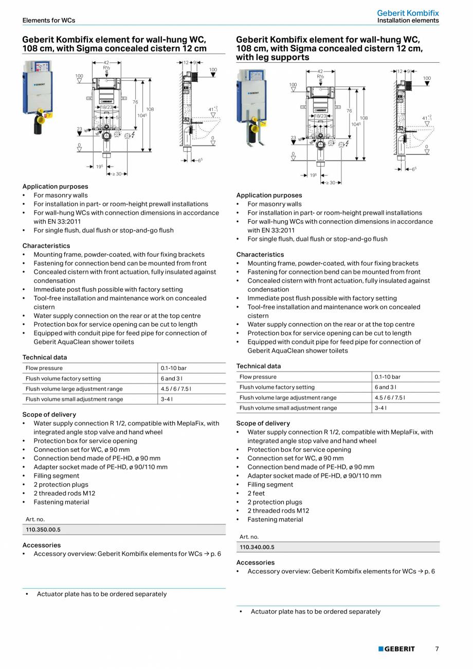 Pagina 7 - Sisteme sanitare Geberit 2015-2016 GEBERIT Kombifix, Duofix, DuoFresh, Monolith,...