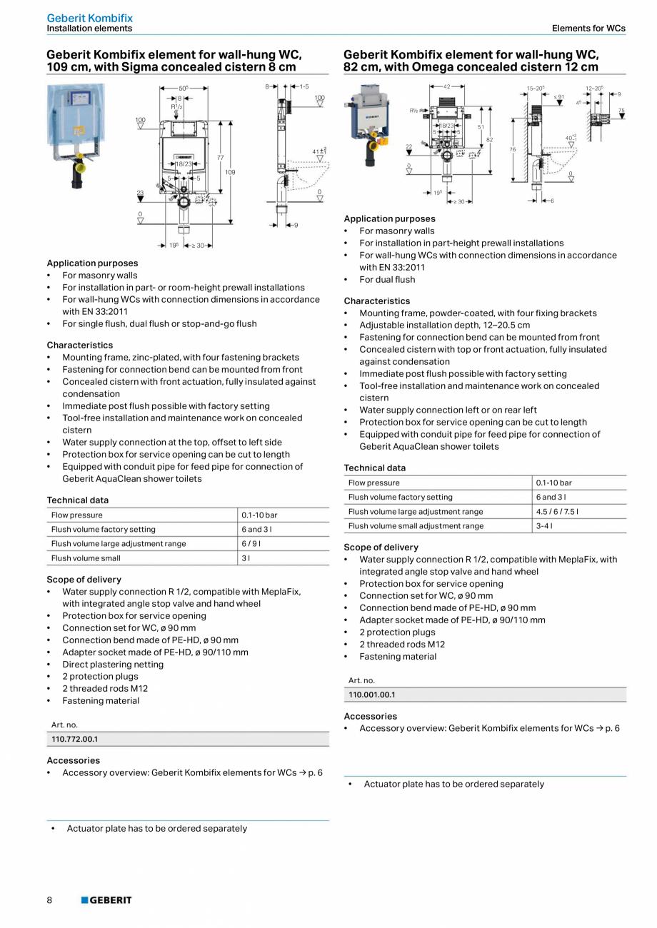 Pagina 8 - Sisteme sanitare Geberit 2015-2016 GEBERIT Kombifix, Duofix, DuoFresh, Monolith,...