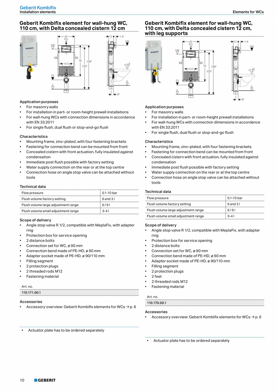 Pagina 10 - Sisteme sanitare Geberit 2015-2016 GEBERIT Kombifix, Duofix, DuoFresh, Monolith,...