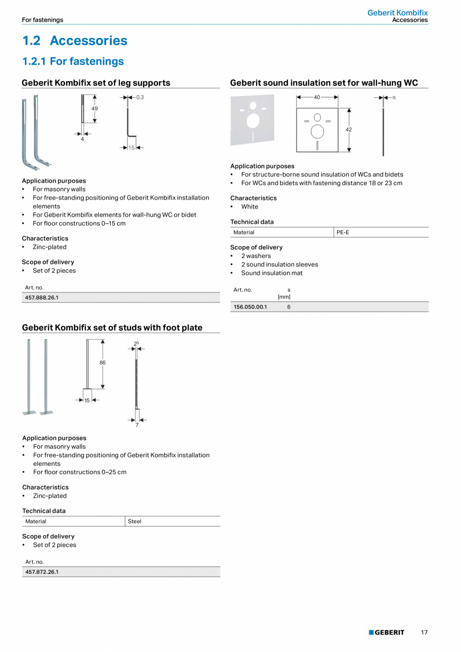 Pagina 17 - Sisteme sanitare Geberit 2015-2016 GEBERIT Kombifix, Duofix, DuoFresh, Monolith,...