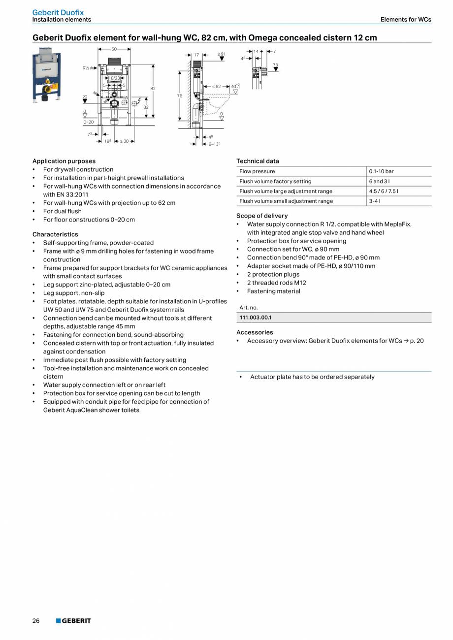 Pagina 26 - Sisteme sanitare Geberit 2015-2016 GEBERIT Kombifix, Duofix, DuoFresh, Monolith,...