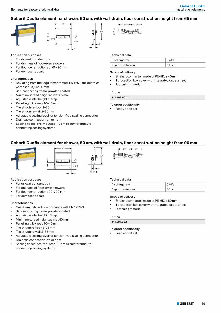 Pagina 39 - Sisteme sanitare Geberit 2015-2016 GEBERIT Kombifix, Duofix, DuoFresh, Monolith,...