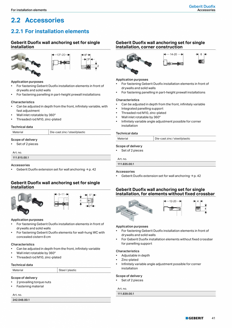 Pagina 41 - Sisteme sanitare Geberit 2015-2016 GEBERIT Kombifix, Duofix, DuoFresh, Monolith,...