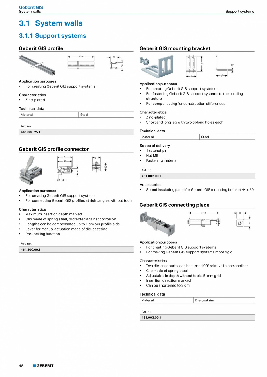 Pagina 48 - Sisteme sanitare Geberit 2015-2016 GEBERIT Kombifix, Duofix, DuoFresh, Monolith,...