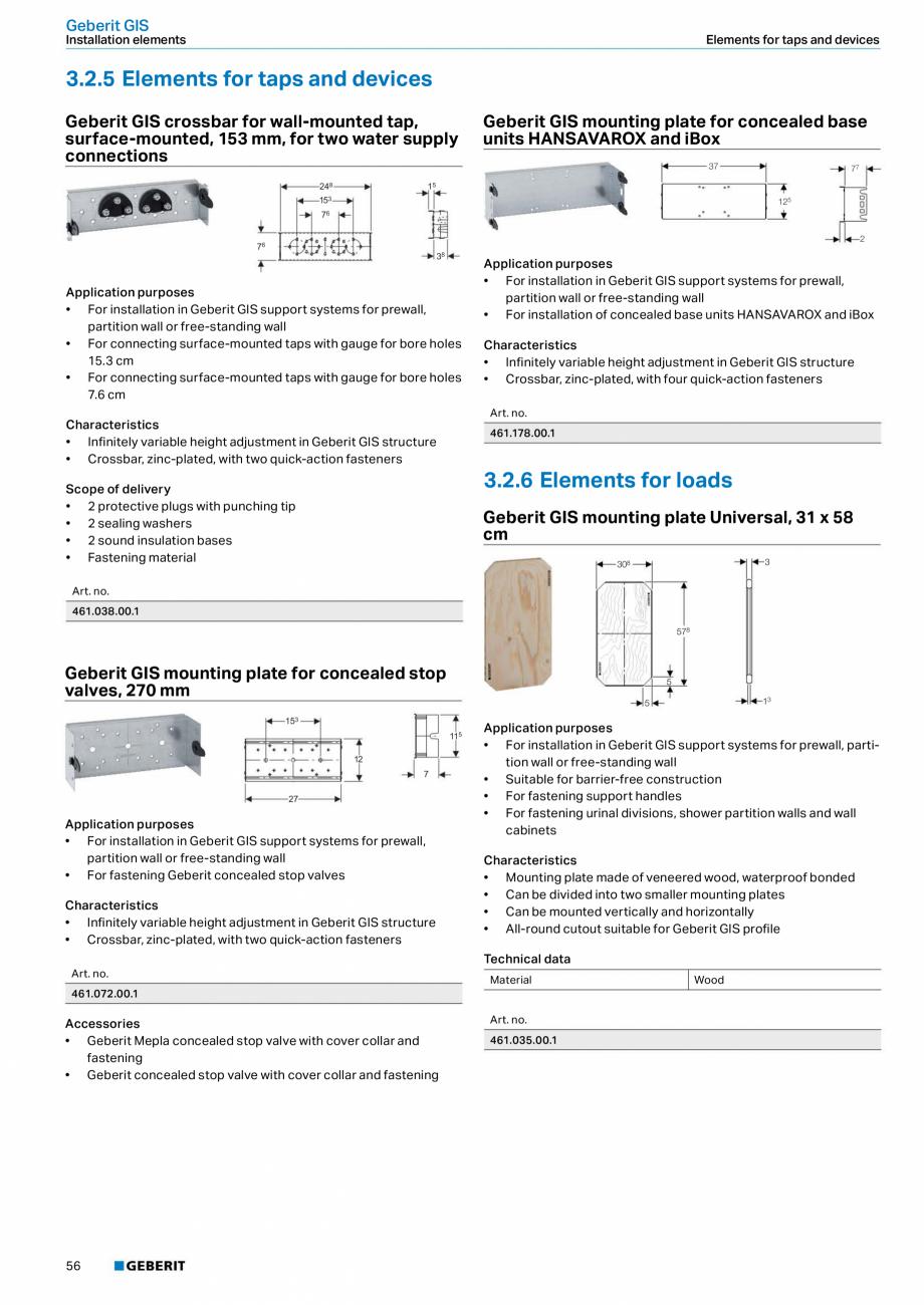Pagina 56 - Sisteme sanitare Geberit 2015-2016 GEBERIT Kombifix, Duofix, DuoFresh, Monolith,...