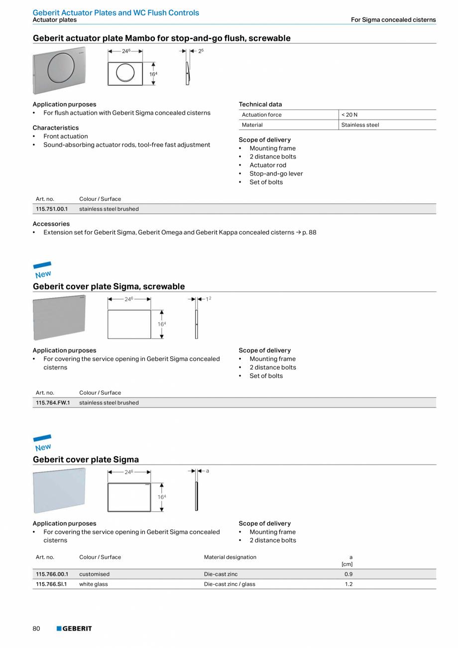 Pagina 80 - Sisteme sanitare Geberit 2015-2016 GEBERIT Kombifix, Duofix, DuoFresh, Monolith,...