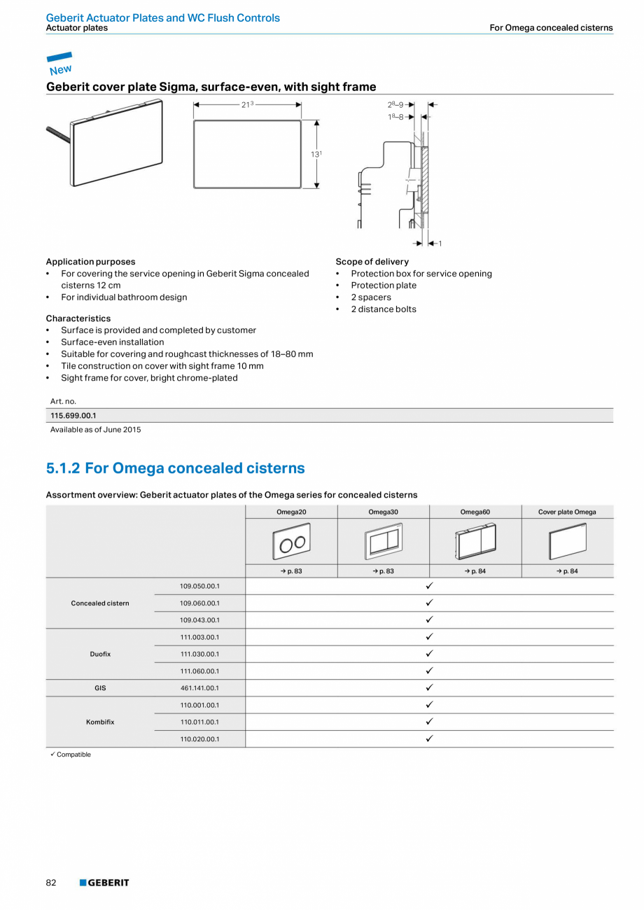 Pagina 82 - Sisteme sanitare Geberit 2015-2016 GEBERIT Kombifix, Duofix, DuoFresh, Monolith,...