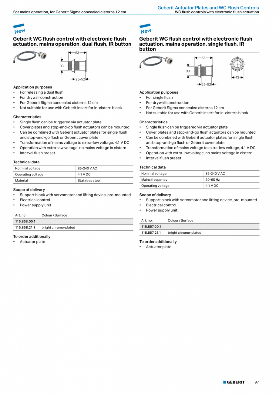 Pagina 97 - Sisteme sanitare Geberit 2015-2016 GEBERIT Kombifix, Duofix, DuoFresh, Monolith,...