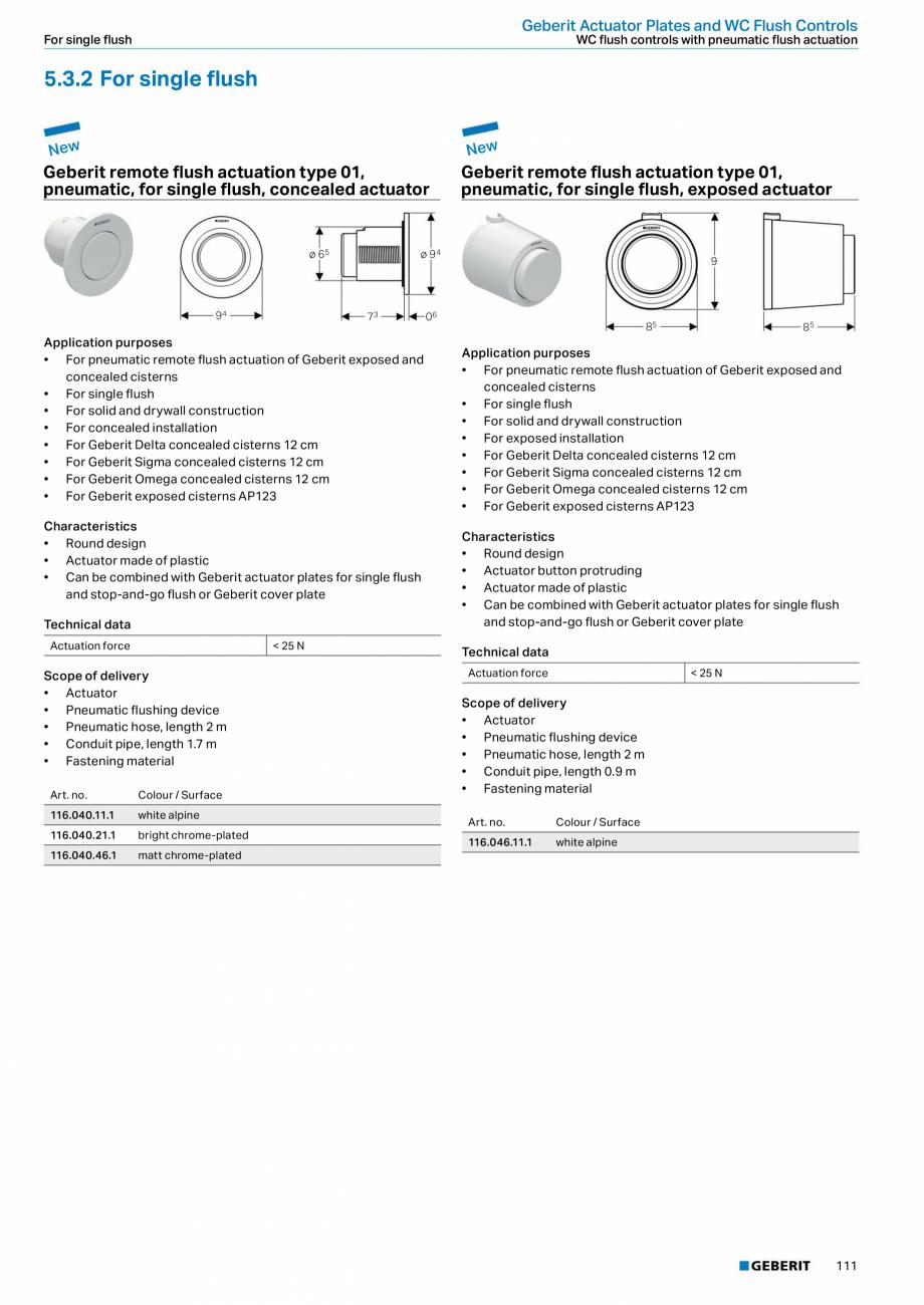 Pagina 111 - Sisteme sanitare Geberit 2015-2016 GEBERIT Kombifix, Duofix, DuoFresh, Monolith,...