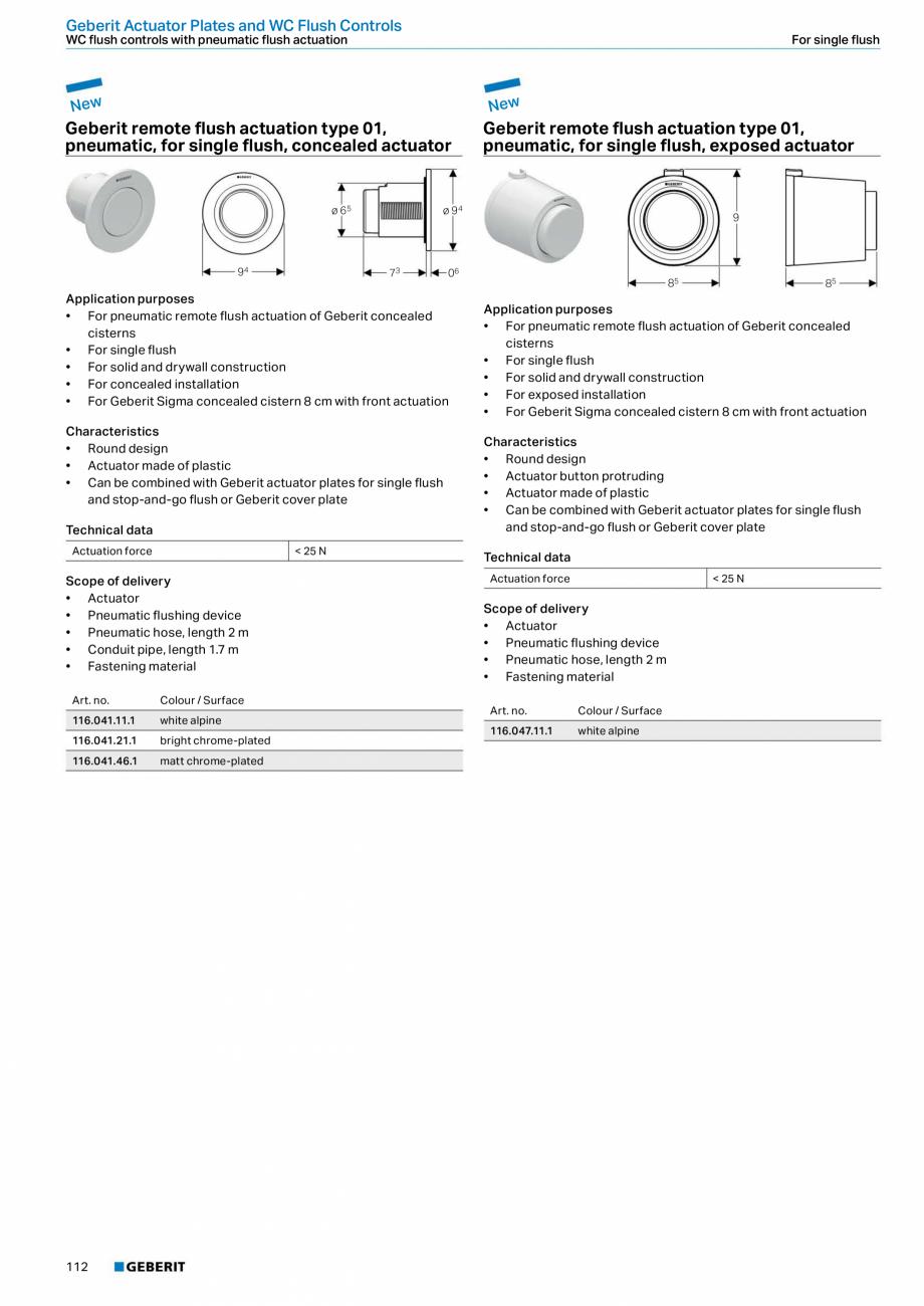 Pagina 112 - Sisteme sanitare Geberit 2015-2016 GEBERIT Kombifix, Duofix, DuoFresh, Monolith,...