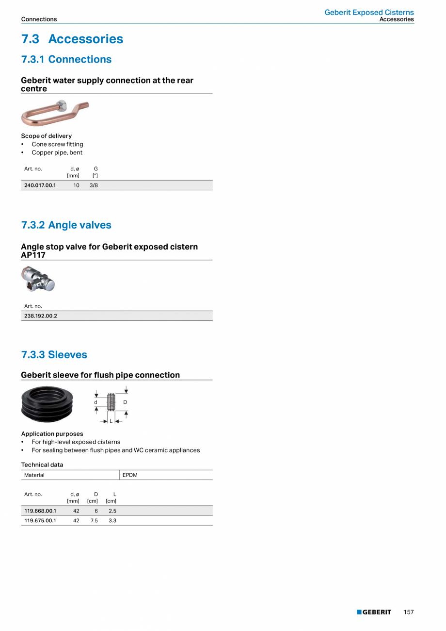 Pagina 157 - Sisteme sanitare Geberit 2015-2016 GEBERIT Kombifix, Duofix, DuoFresh, Monolith,...