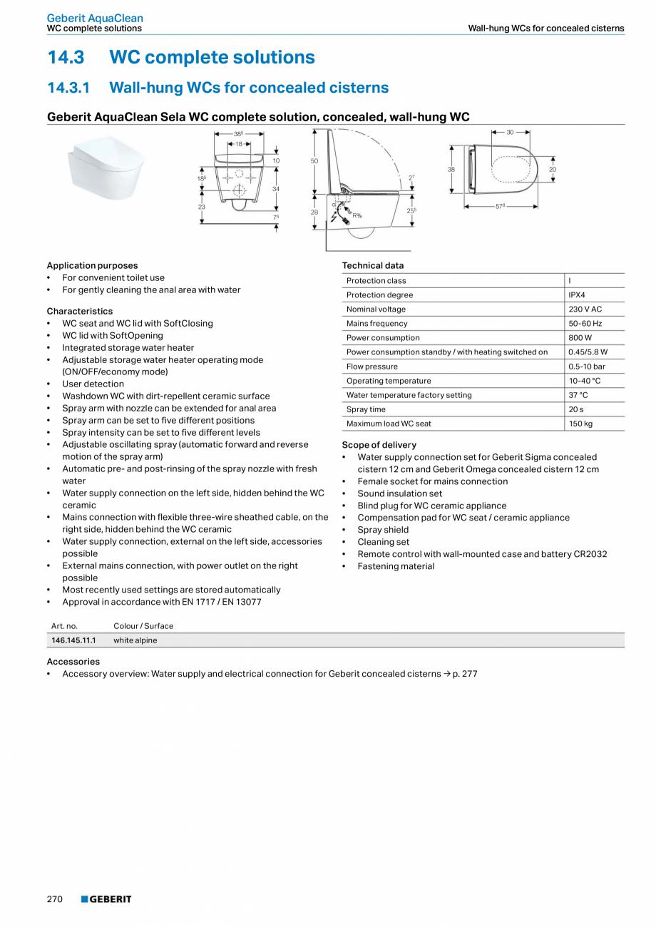 Pagina 6 - Sistem WC GEBERIT AquaClean Fisa tehnica Engleza eberit AquaClean 5000 WC enhancement...