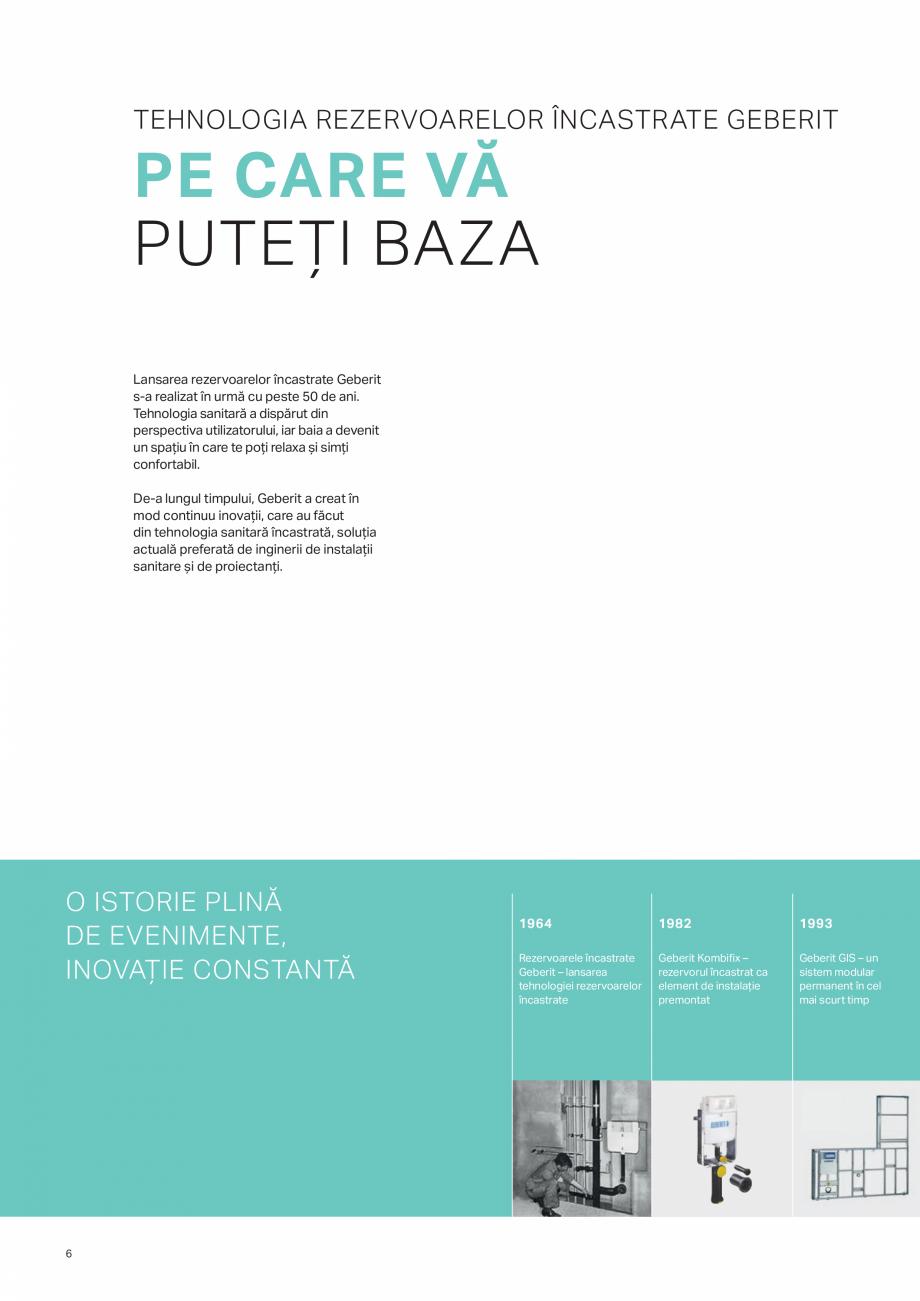 Pagina 6 - Geberit -Sisteme de instalare GEBERIT Kombifix, Duofix, DuoFresh, Monolith, AquaClean...