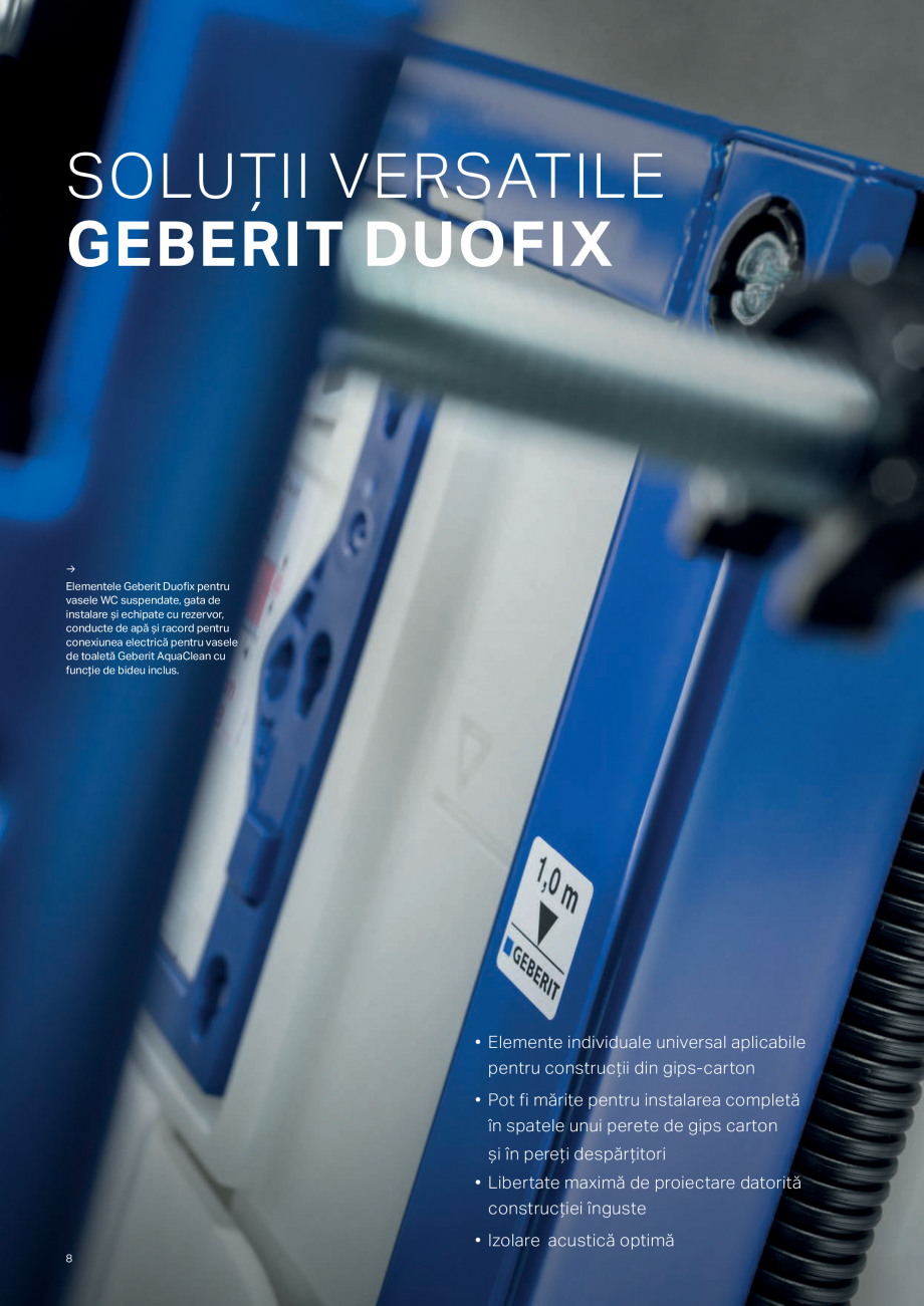 Pagina 8 - Geberit -Sisteme de instalare GEBERIT Kombifix, Duofix, DuoFresh, Monolith, AquaClean...