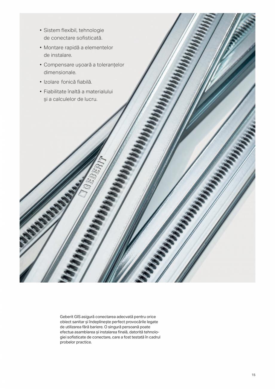 Pagina 15 - Geberit -Sisteme de instalare GEBERIT Kombifix, Duofix, DuoFresh, Monolith, AquaClean...