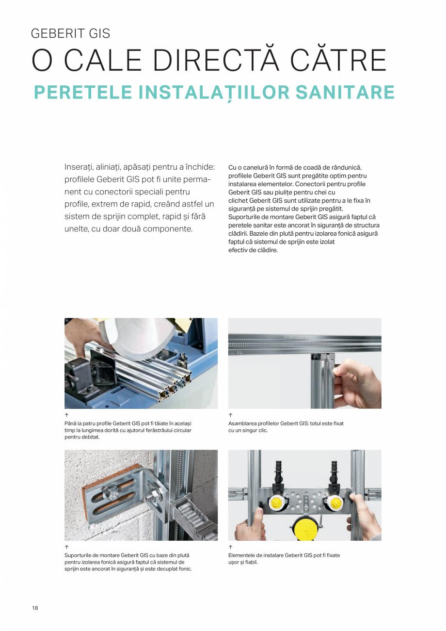 Pagina 18 - Geberit -Sisteme de instalare GEBERIT Kombifix, Duofix, DuoFresh, Monolith, AquaClean...