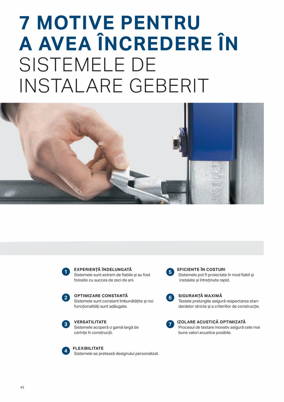 Pagina 42 - Geberit -Sisteme de instalare GEBERIT Kombifix, Duofix, DuoFresh, Monolith, AquaClean...