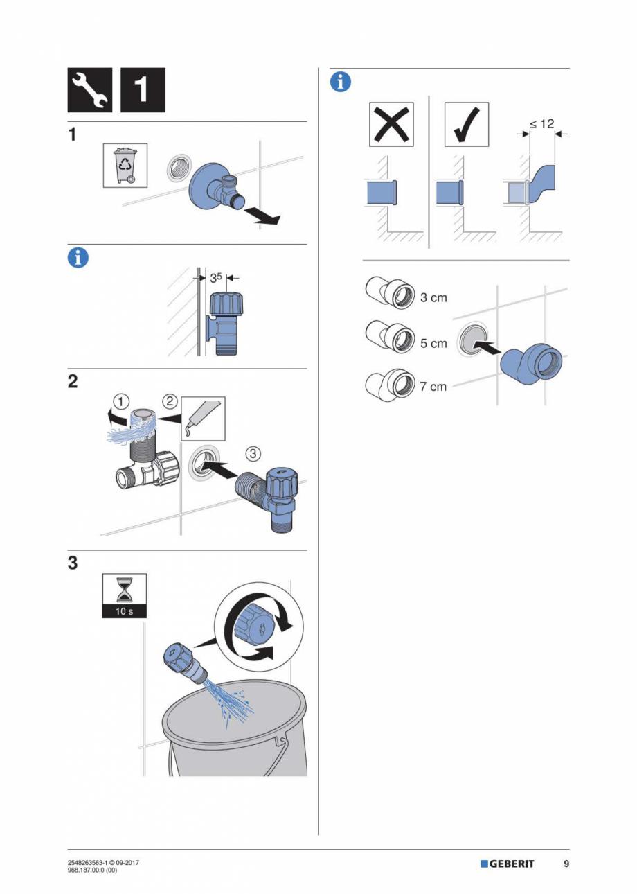 Pagina 9 - Manual de instalare pentru modulul sanitar GEBERIT Monolith Instructiuni montaj,...