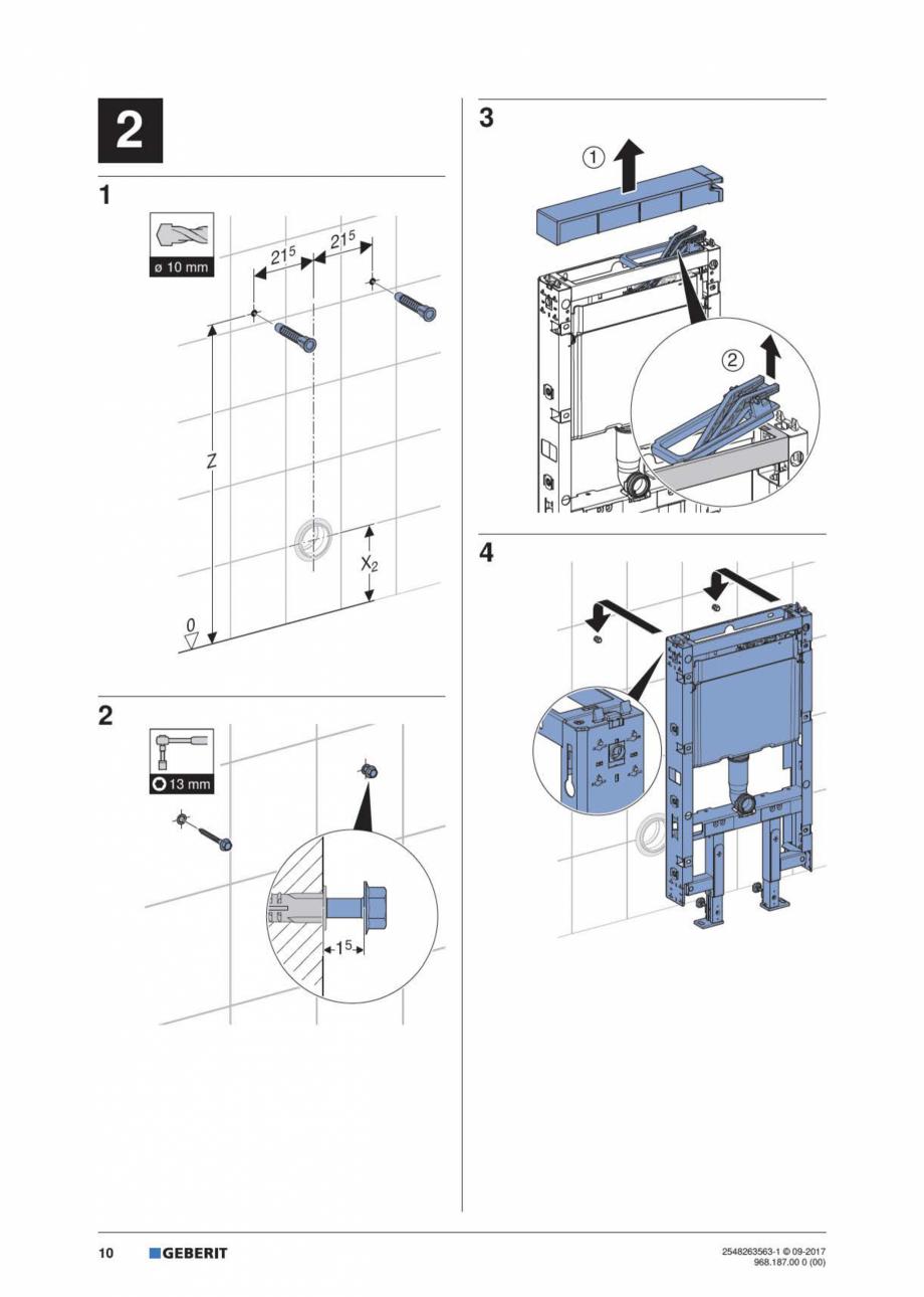 Pagina 10 - Manual de instalare pentru modulul sanitar GEBERIT Monolith Instructiuni montaj,...