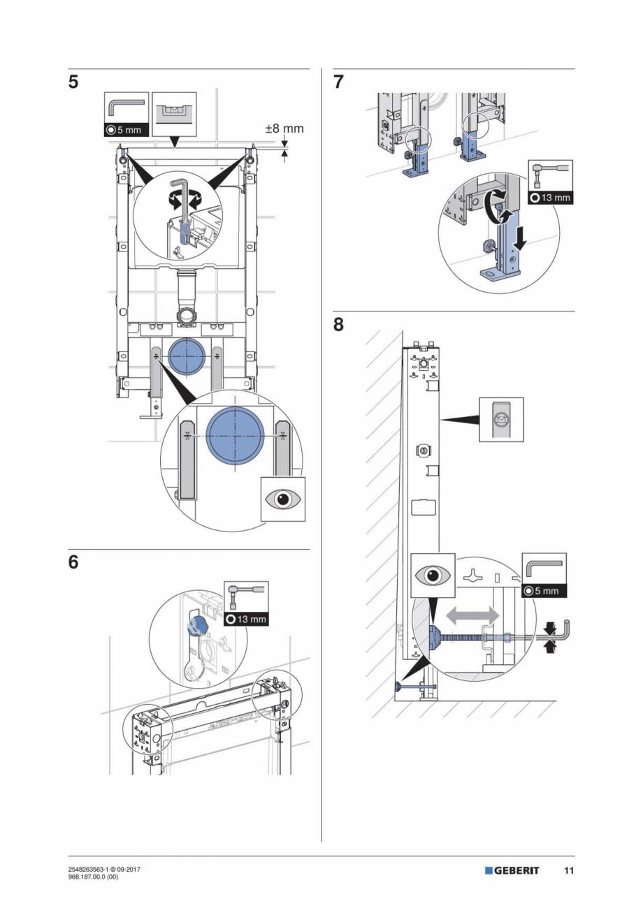Pagina 11 - Manual de instalare pentru modulul sanitar GEBERIT Monolith Instructiuni montaj,...
