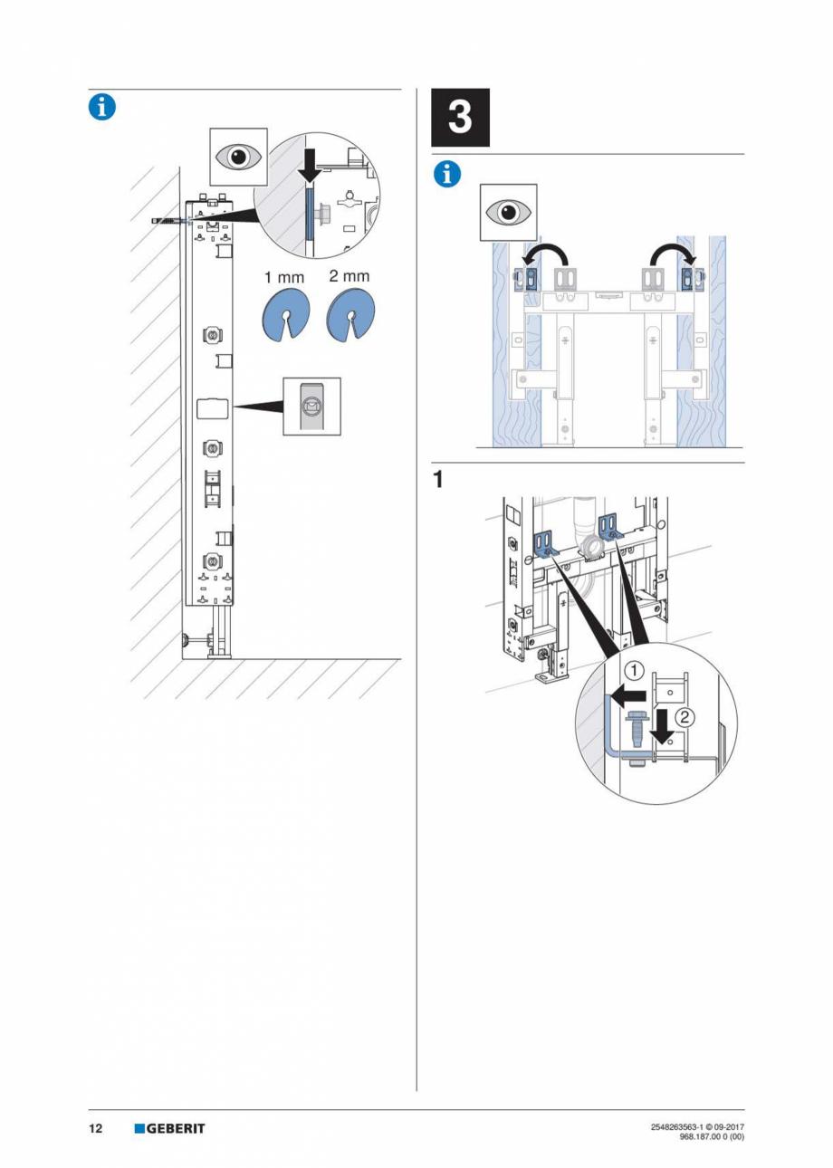 Pagina 12 - Manual de instalare pentru modulul sanitar GEBERIT Monolith Instructiuni montaj,...