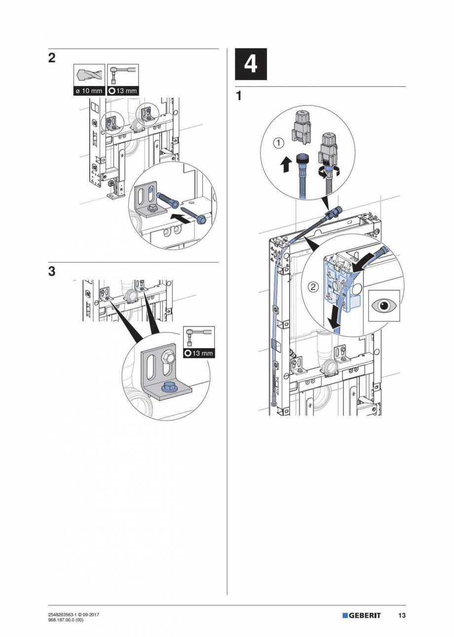 Pagina 13 - Manual de instalare pentru modulul sanitar GEBERIT Monolith Instructiuni montaj,...