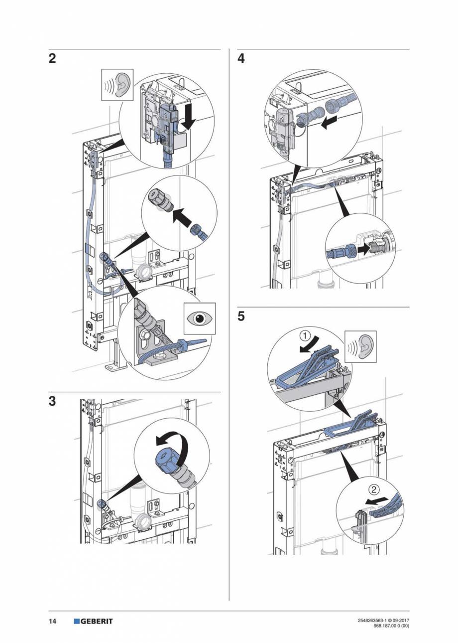 Pagina 14 - Manual de instalare pentru modulul sanitar GEBERIT Monolith Instructiuni montaj,...