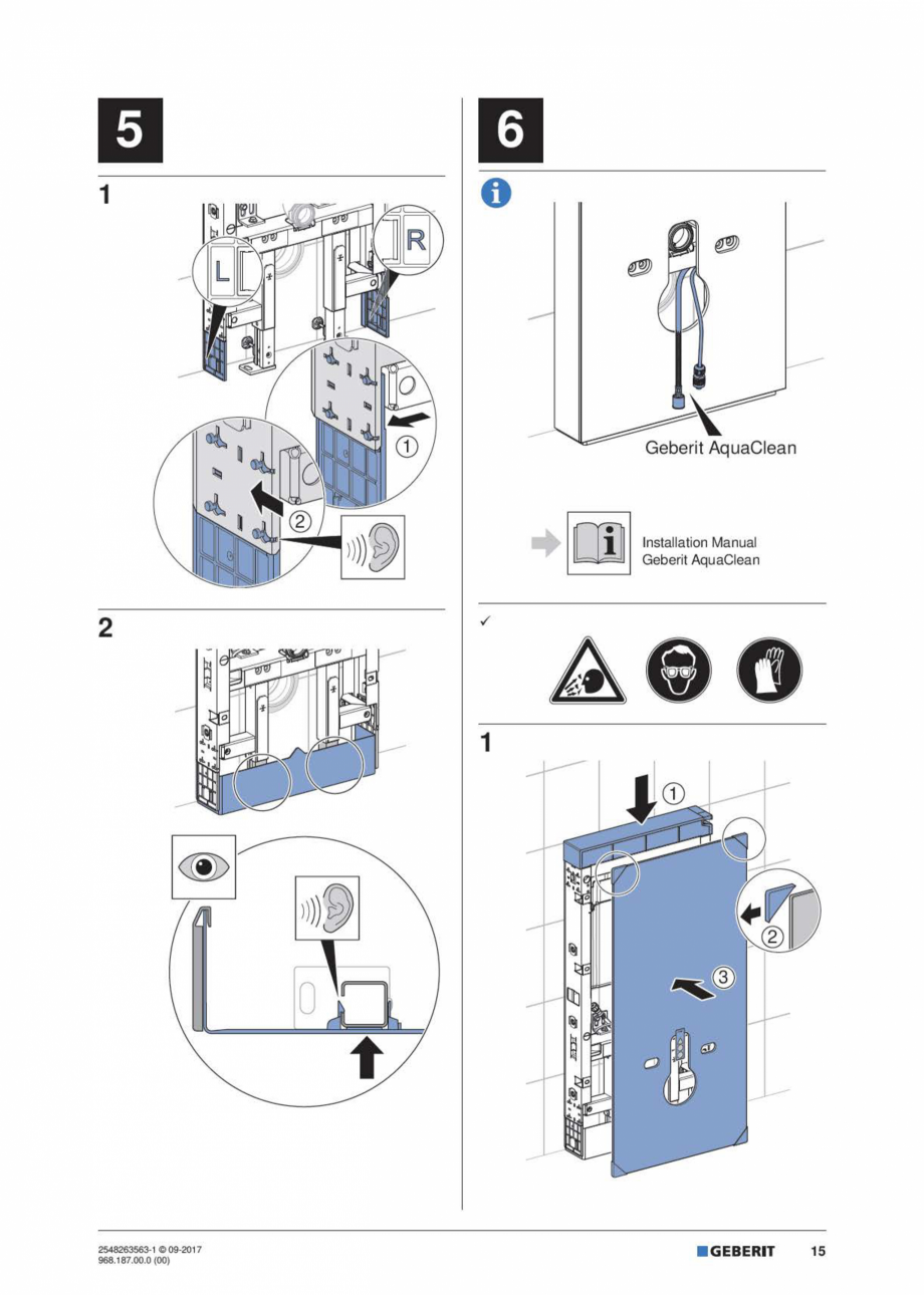 Pagina 15 - Manual de instalare pentru modulul sanitar GEBERIT Monolith Instructiuni montaj,...