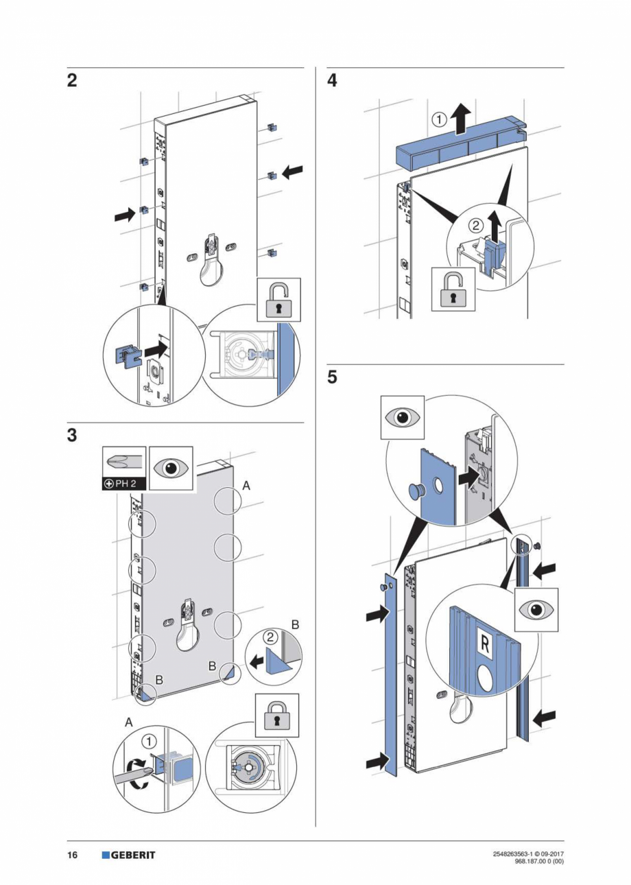 Pagina 16 - Manual de instalare pentru modulul sanitar GEBERIT Monolith Instructiuni montaj,...
