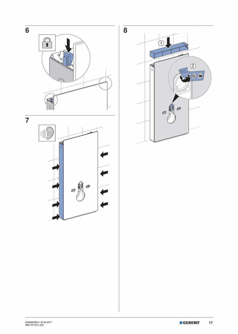 Pagina 17 - Manual de instalare pentru modulul sanitar GEBERIT Monolith Instructiuni montaj,...