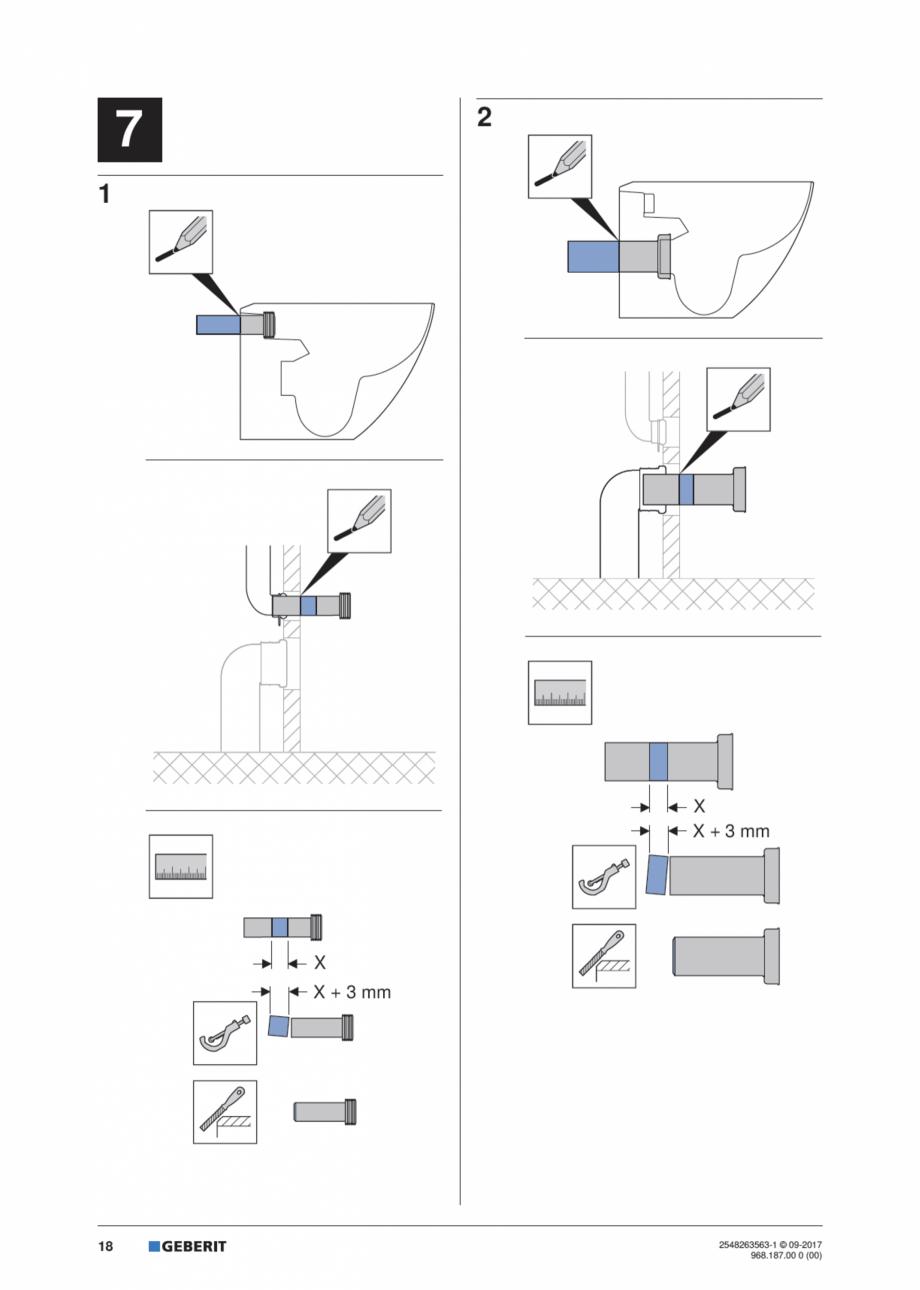 Pagina 18 - Manual de instalare pentru modulul sanitar GEBERIT Monolith Instructiuni montaj,...