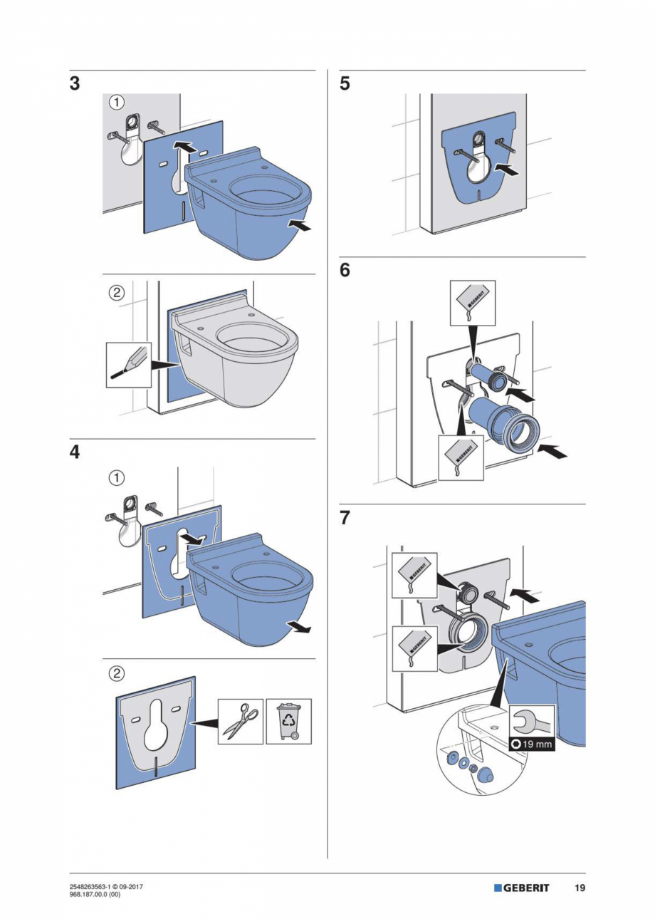 Pagina 19 - Manual de instalare pentru modulul sanitar GEBERIT Monolith Instructiuni montaj,...