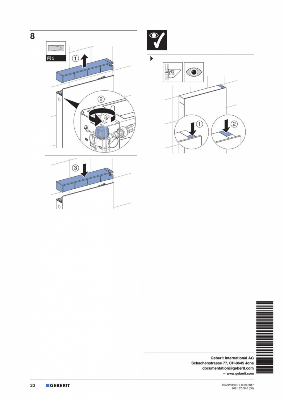 Pagina 20 - Manual de instalare pentru modulul sanitar GEBERIT Monolith Instructiuni montaj,...