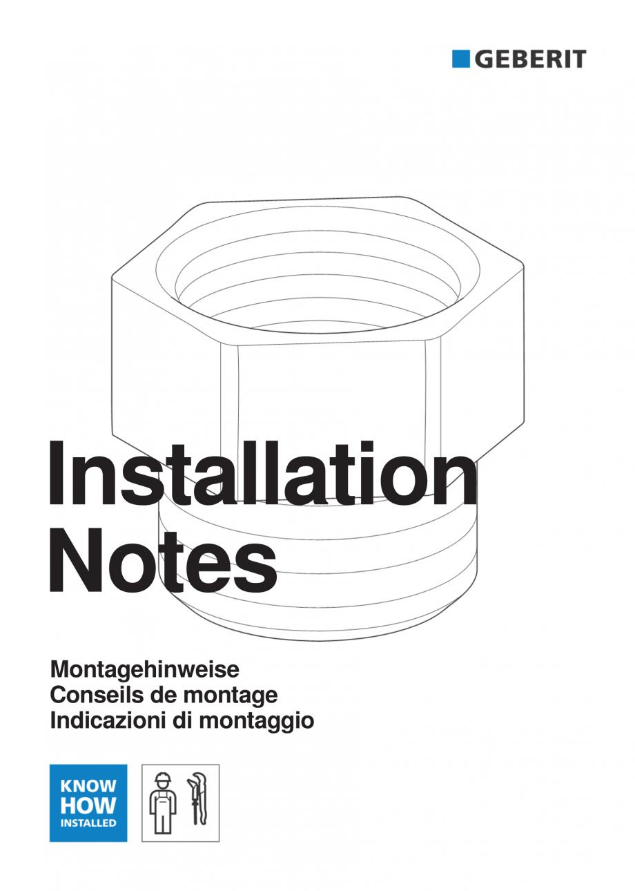 Pagina 1 - Instructiuni pentru instalarea modului sanitar GEBERIT Monolith Instructiuni montaj,...
