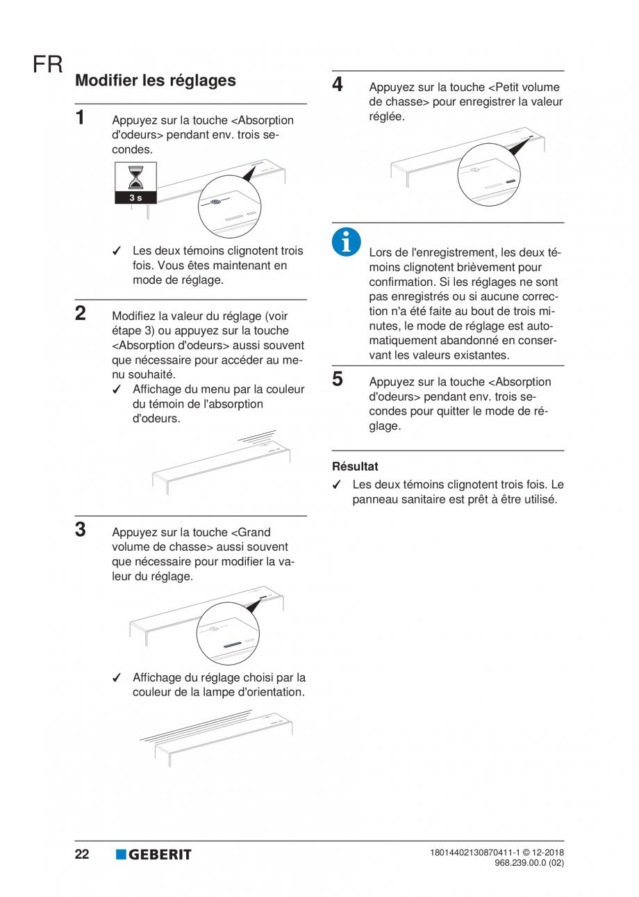 Pagina 18 - Manualul utilizatorului pentru modulul sanitar Monolith Plus GEBERIT Monolith...