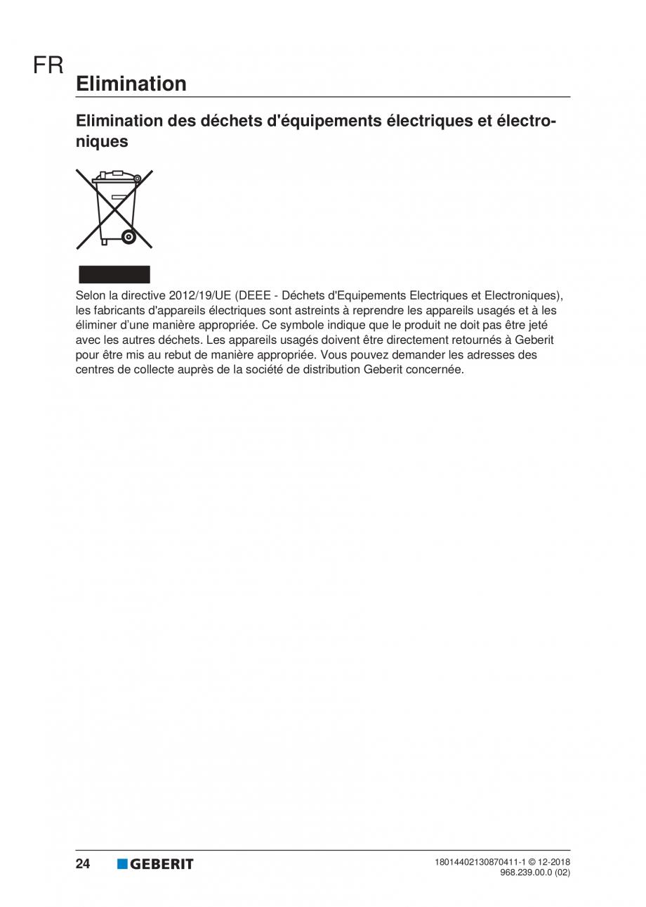 Pagina 20 - Manualul utilizatorului pentru modulul sanitar Monolith Plus GEBERIT Monolith...