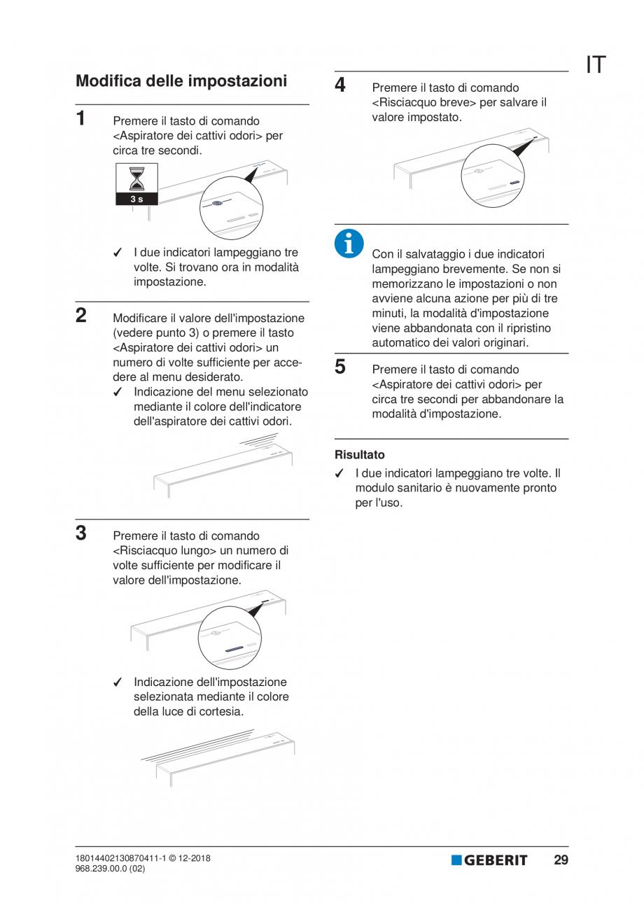 Pagina 25 - Manualul utilizatorului pentru modulul sanitar Monolith Plus GEBERIT Monolith...