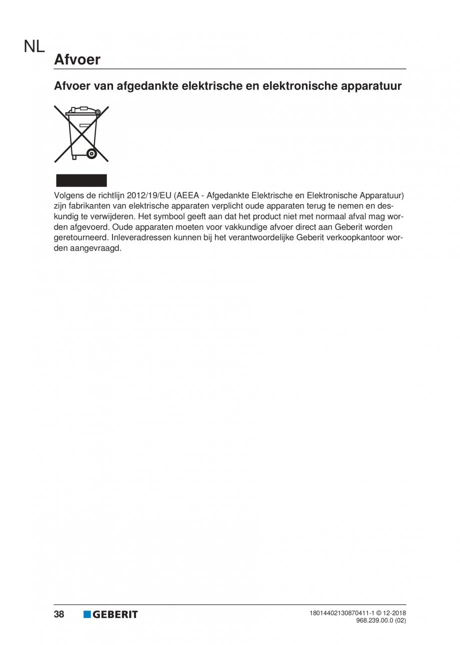 Pagina 34 - Manualul utilizatorului pentru modulul sanitar Monolith Plus GEBERIT Monolith...