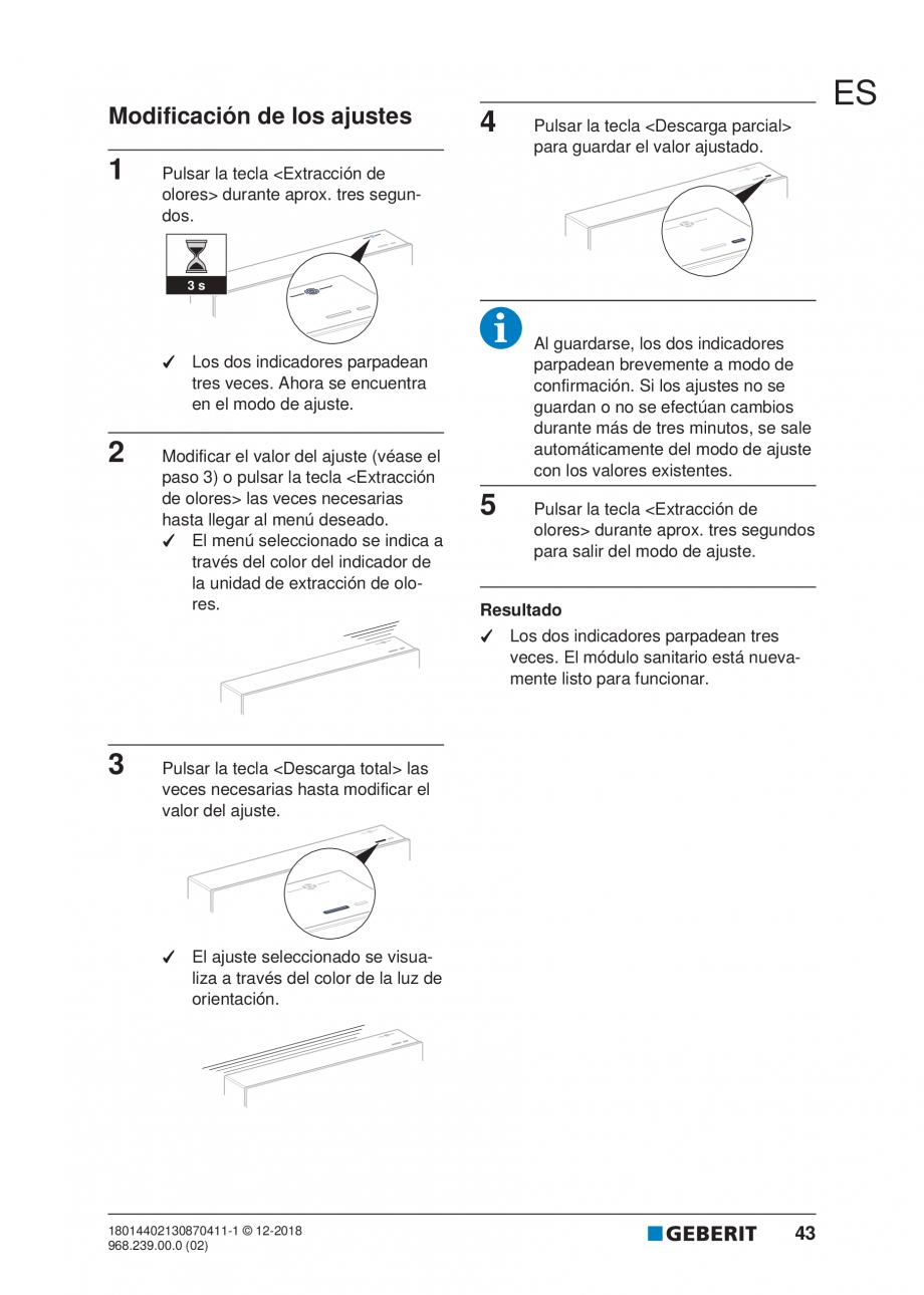 Pagina 39 - Manualul utilizatorului pentru modulul sanitar Monolith Plus GEBERIT Monolith...