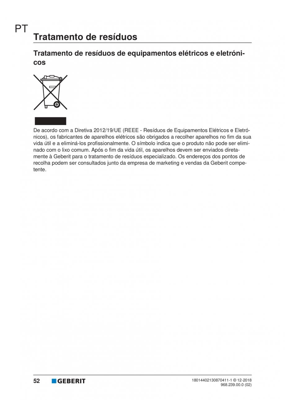 Pagina 48 - Manualul utilizatorului pentru modulul sanitar Monolith Plus GEBERIT Monolith...