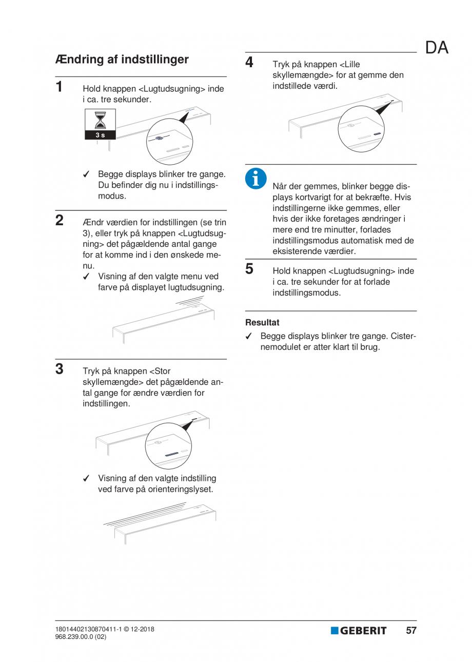 Pagina 53 - Manualul utilizatorului pentru modulul sanitar Monolith Plus GEBERIT Monolith...