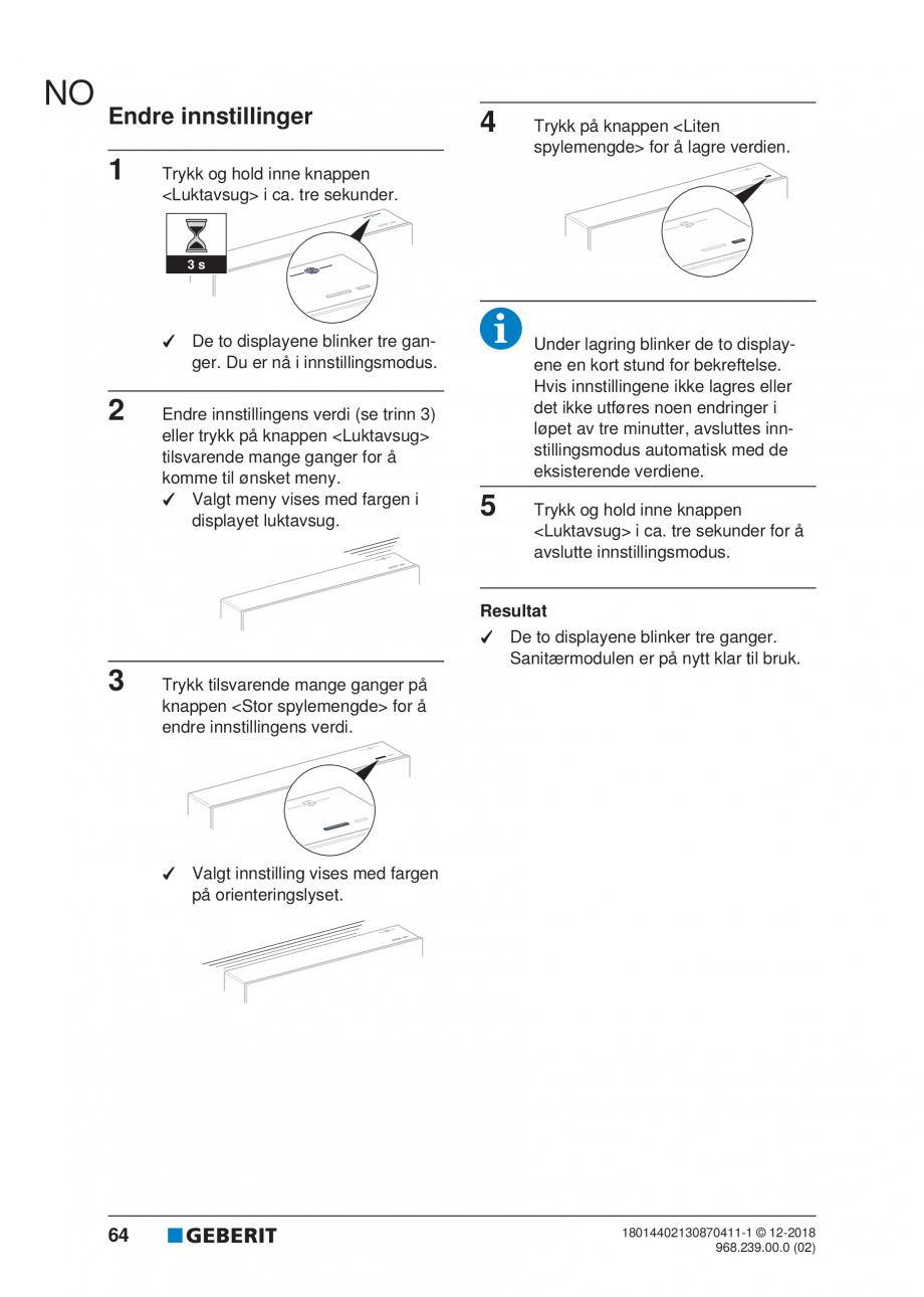 Pagina 60 - Manualul utilizatorului pentru modulul sanitar Monolith Plus GEBERIT Monolith...
