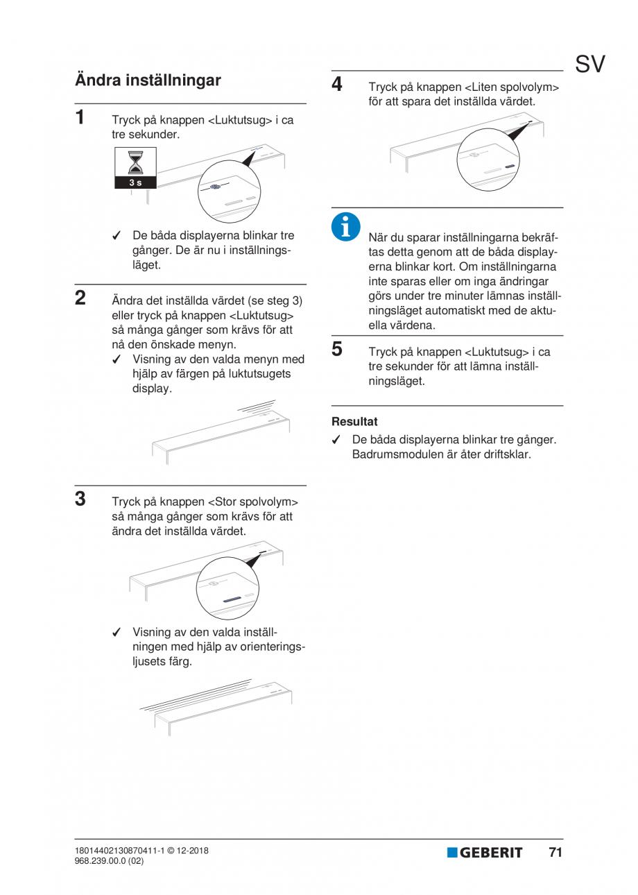 Pagina 67 - Manualul utilizatorului pentru modulul sanitar Monolith Plus GEBERIT Monolith...