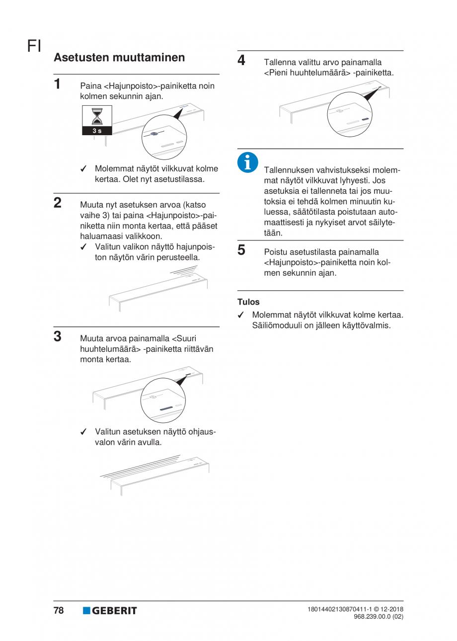 Pagina 74 - Manualul utilizatorului pentru modulul sanitar Monolith Plus GEBERIT Monolith...