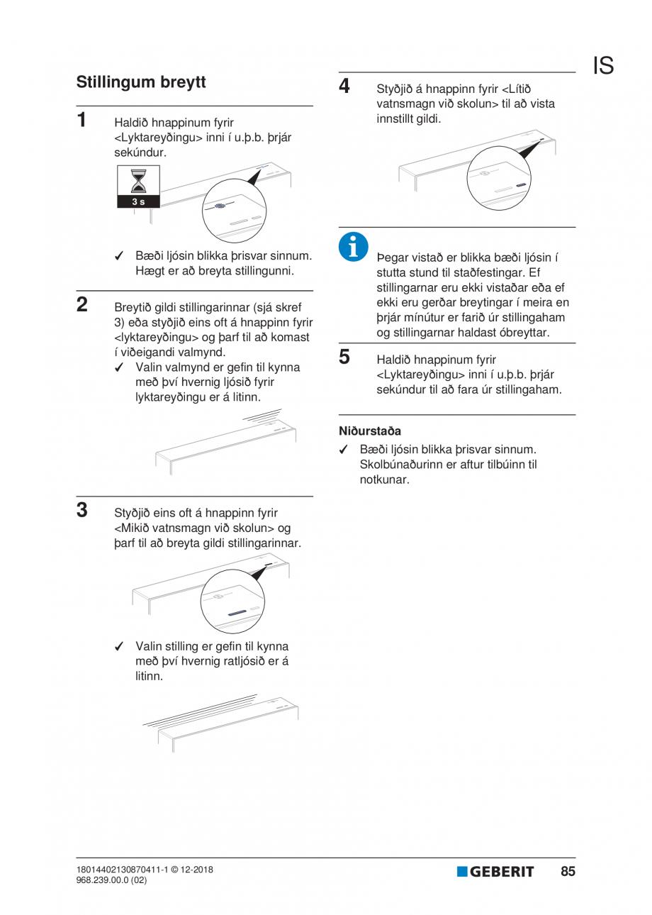 Pagina 81 - Manualul utilizatorului pentru modulul sanitar Monolith Plus GEBERIT Monolith...