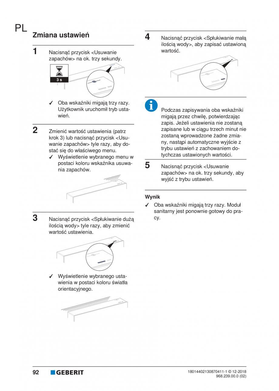 Pagina 88 - Manualul utilizatorului pentru modulul sanitar Monolith Plus GEBERIT Monolith...