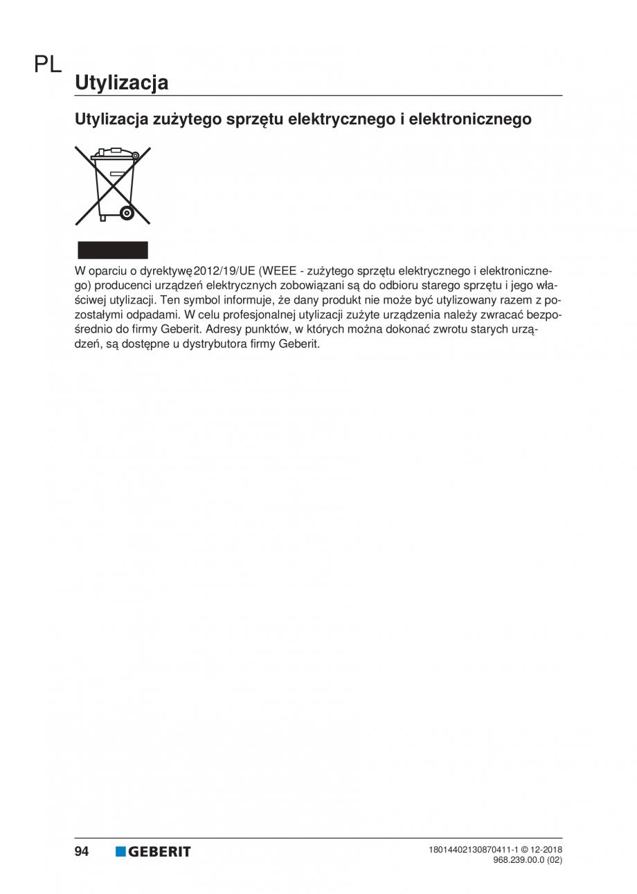 Pagina 90 - Manualul utilizatorului pentru modulul sanitar Monolith Plus GEBERIT Monolith...