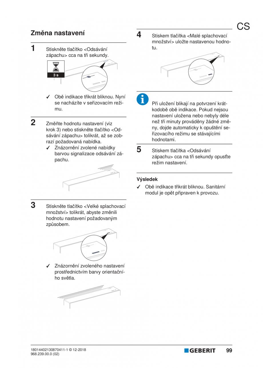 Pagina 95 - Manualul utilizatorului pentru modulul sanitar Monolith Plus GEBERIT Monolith...