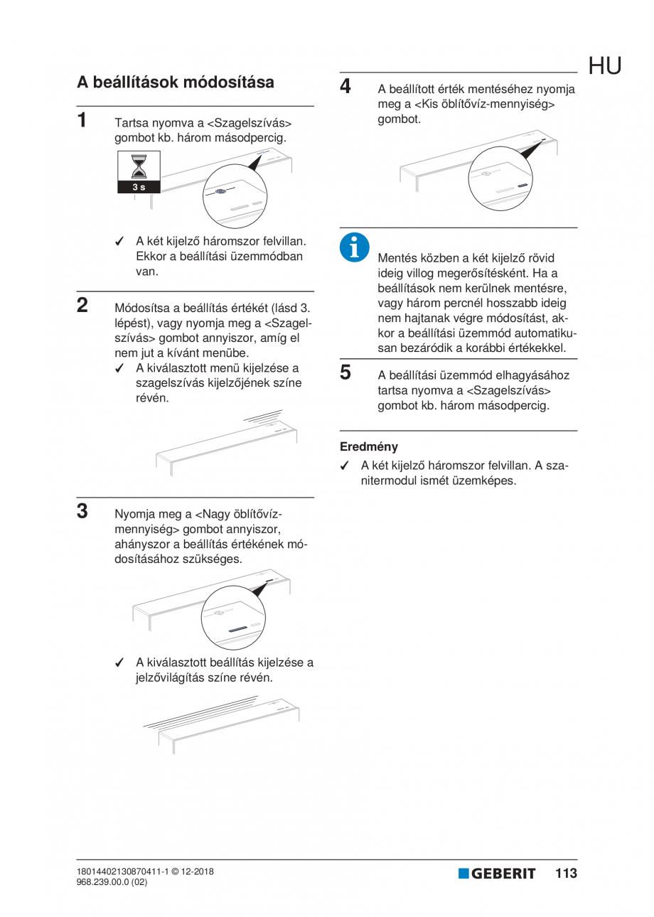 Pagina 113 - Manualul utilizatorului pentru modulul sanitar Monolith Plus GEBERIT Monolith...