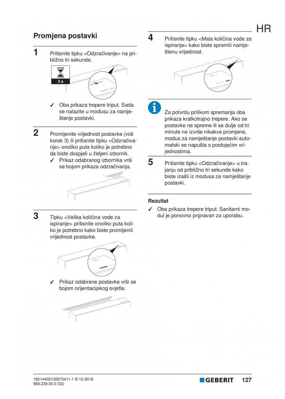 Pagina 127 - Manualul utilizatorului pentru modulul sanitar Monolith Plus GEBERIT Monolith...